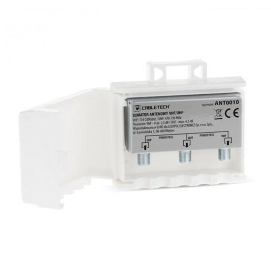 Anténny zlučovač-sumator VHF/UHF power pass
