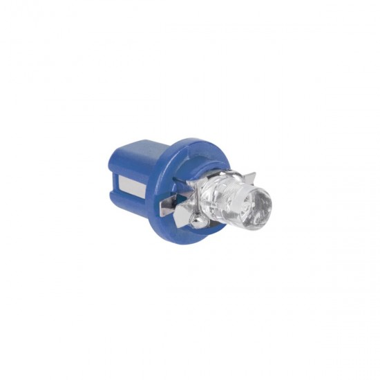 Autožiar.12V B8.5 d -1LED modra