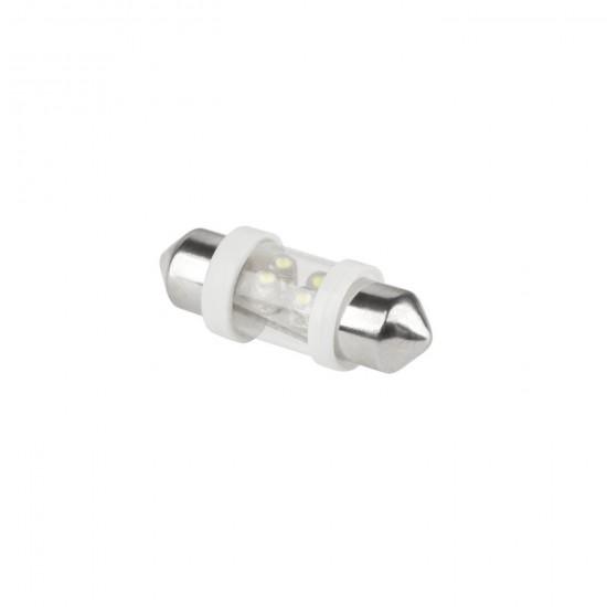 Autožiar.12V T10*31-4led Sv8,5 biela