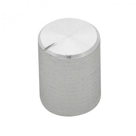 Gombík na potenciometer 6mm strieborný
