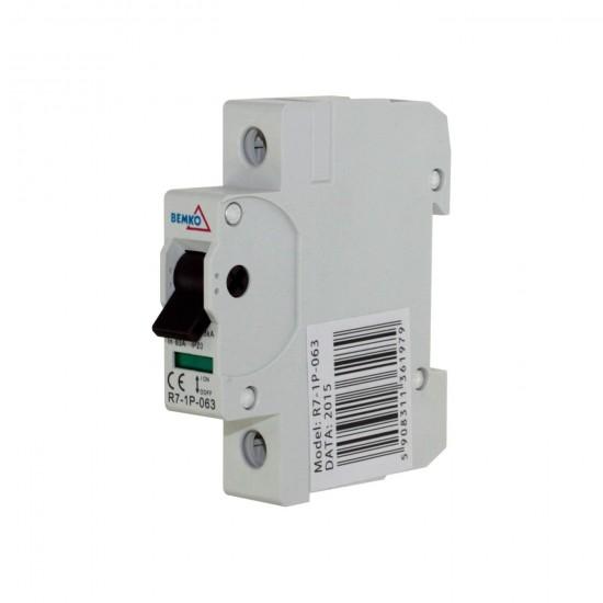 Hlavný vypínač na DIN lištu R7-1P-063