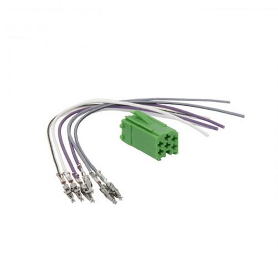 ISO Konektor 6 pin mini zelený