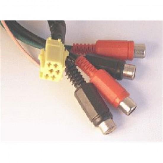 ISO Konektor 6 pin - redukcia 4xRCA