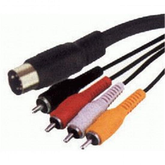 Kábel DIN5 - RCA 4x, 1,8m