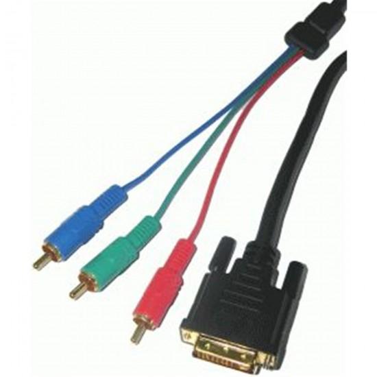 Kábel DVI(24+1) - RCA 3x, 3m
