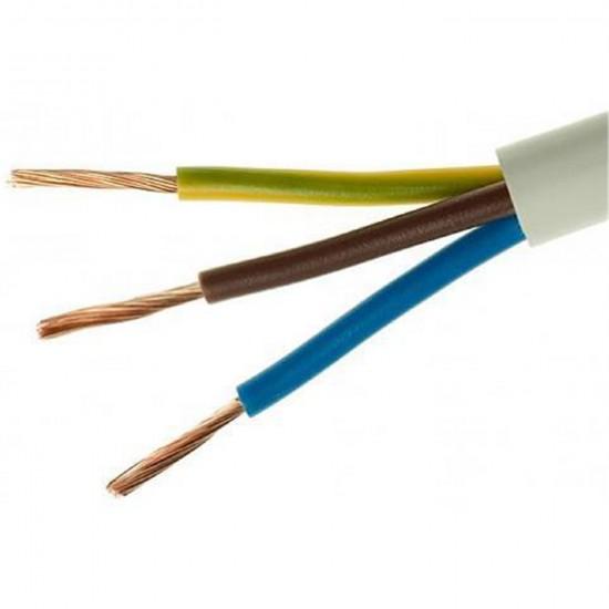 Kábel elek.H05VVH2-F 3x1,5 G biely-100m