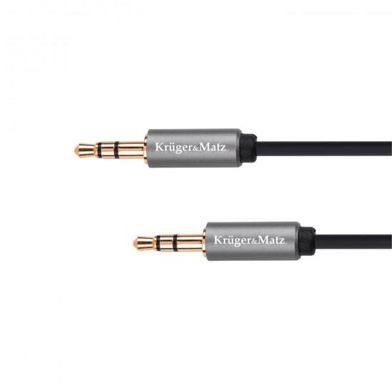 Kábel Jack 3,5mm - Jack 3,5mm, 1,8m Kruger&Matz Basic