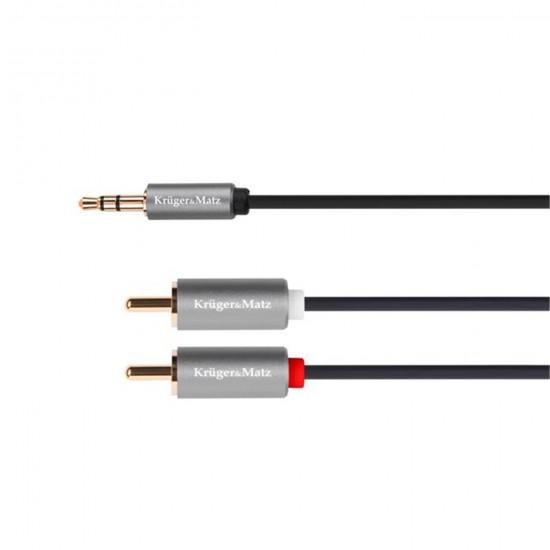 Kábel Jack 3,5mm - RCA 2x, 5m Kruger&Matz Basic