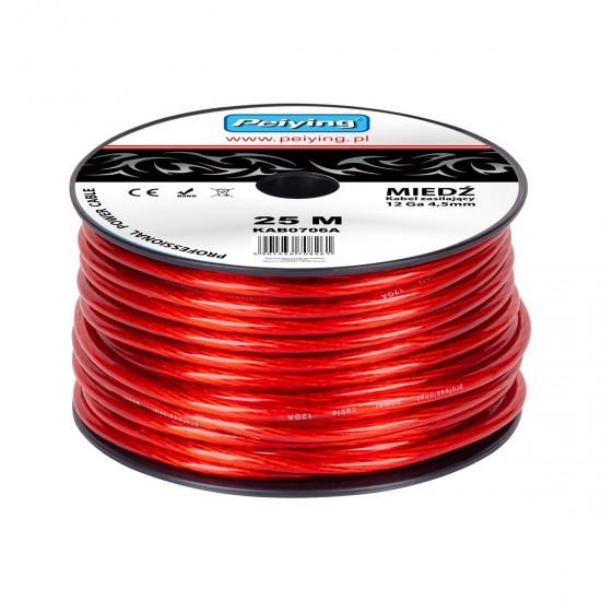 Kábel napájací auto 4,5mm  (25m) CU