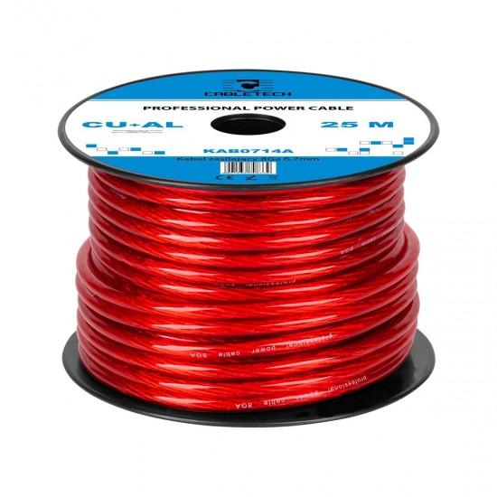 Kábel napájací auto 6,7mm  (25m)  CU+Al