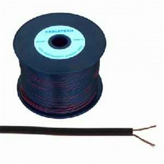 Kábel REPRO. 2x 0,20mm CCA čierny(100m)