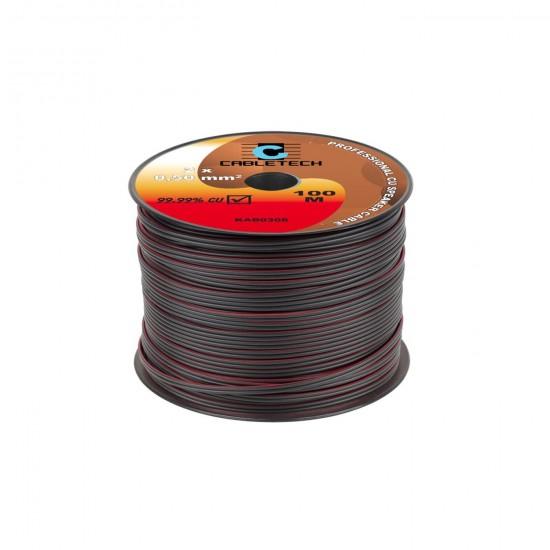 Kábel REPRO. 2x 0,50mm čierny CU(100m)