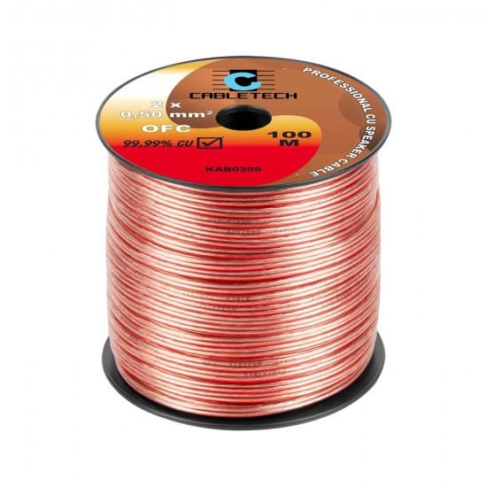 Kábel REPRO. 2x 0,50mm OFC CU(100m)