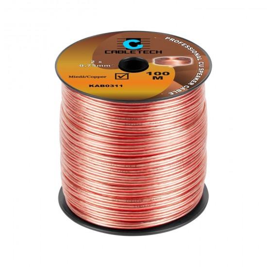 Kábel REPRO. 2x 0,75mm CU(100m)