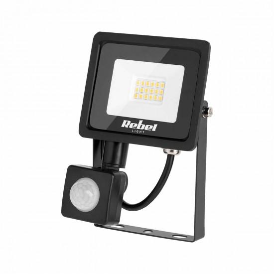 LED Reflektor 10W s detektorom pohybu 3000K Rebel