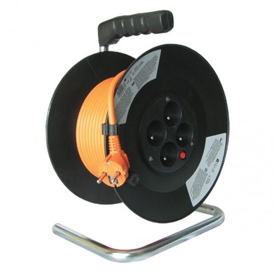 Predlžovací kábel na bubne 4 zás. 3x1,5mm (50m) PVC IP20 SOLIGHT
